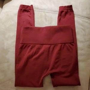 Pants - Dark red Leggings